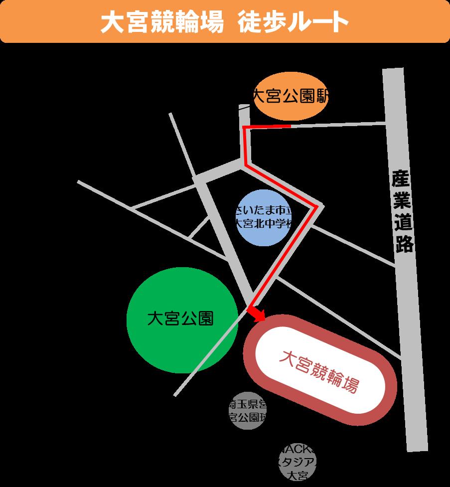 最寄り駅から徒歩のマップ